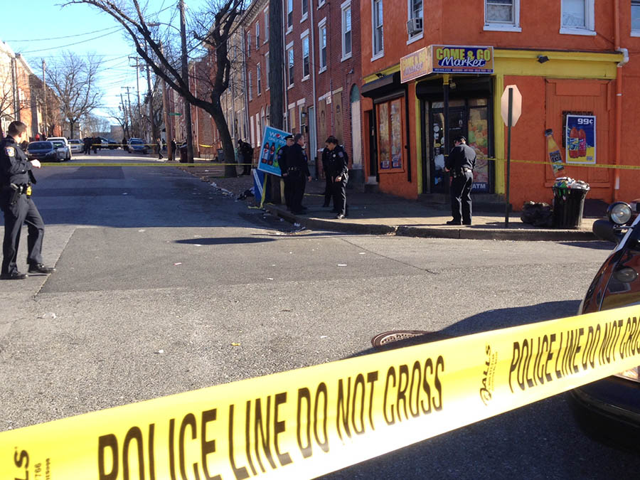 Police investigate shooting at Fifth and Madison streets in Wilmington. (Photo: Delaware Free News)