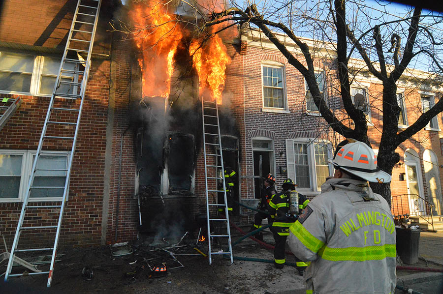 Fire sweeps through home in the 400 block of N. Monroe St. in Wilmington. (Photo: Delaware Free News)