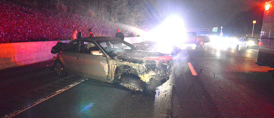 Accident scene on Interstate 95 near Churchmans Road. (Photo: Delaware Free News)