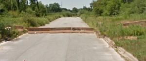 Jersey barriers on Lisa Drive (Photo: Google maps)