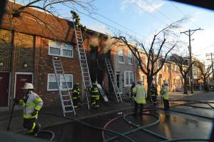 Fire scene in 400 block of N. Monroe St. in Wilmington. (Photo: Delaware Free News)