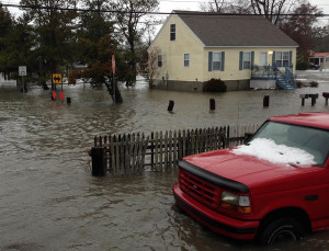 Flooding on River Road in Oak Orchard (Photo: Indian River Volunteer Fire Company)