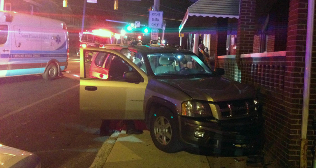 Accident scene at Lancaster Avenue and Broom Street in Wilmington (Photo: Delaware Free News)