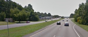 Southbound Route 1 approaching Cicada Lane (Photo: Google maps)