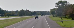 Southbound Route 1 south of Frederica (Photo: Google maps)