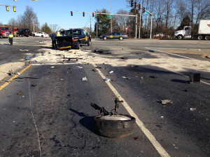 Accident scene at Route 896 and Old Baltimore Pike. (Photo: Delaware Free News)