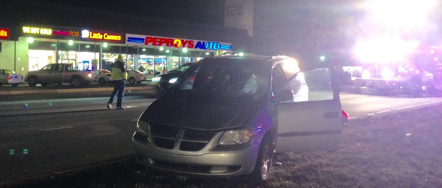 Pedestrian was struck by minivan while crossing U.S. 13 south of Bacon Avenue. (Photo: Delaware Free News)