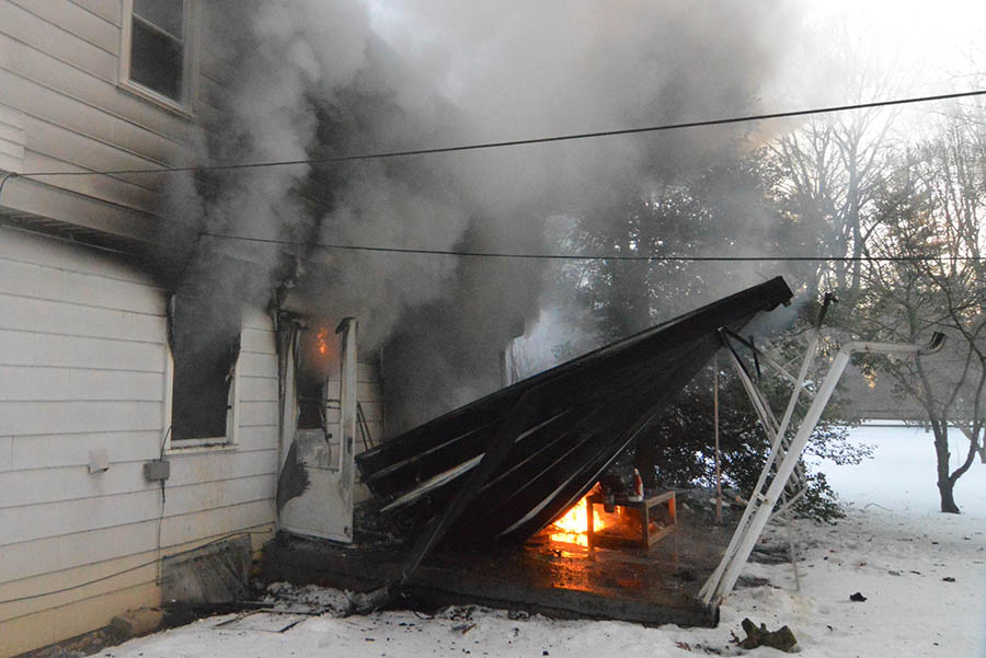 Fire damaged home in 100 block of Oldbury Drive in the Westgate Farms development in Hockessin. (Photo: Delaware Free News)
