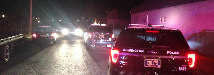 Shooting scene in the 1200 block of N. Locust St. in Wilmington. (Photo: Delaware Free News)
