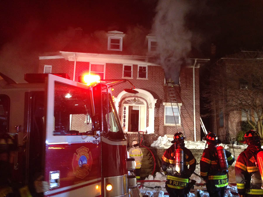 Fire routed residents of apartment building at 503 N. Rodney St. in Wilmington. (Photo: Delaware Free News)