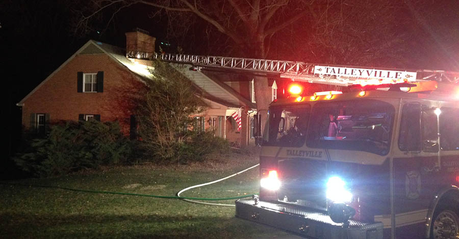 Fire broke out at home in the 100 block of Granite Drive in Alapocas. (Photo: Delaware Free News)