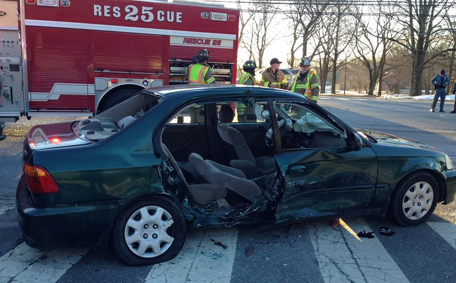 Accident scene on Foulk Road (Photo: Delaware Free News)