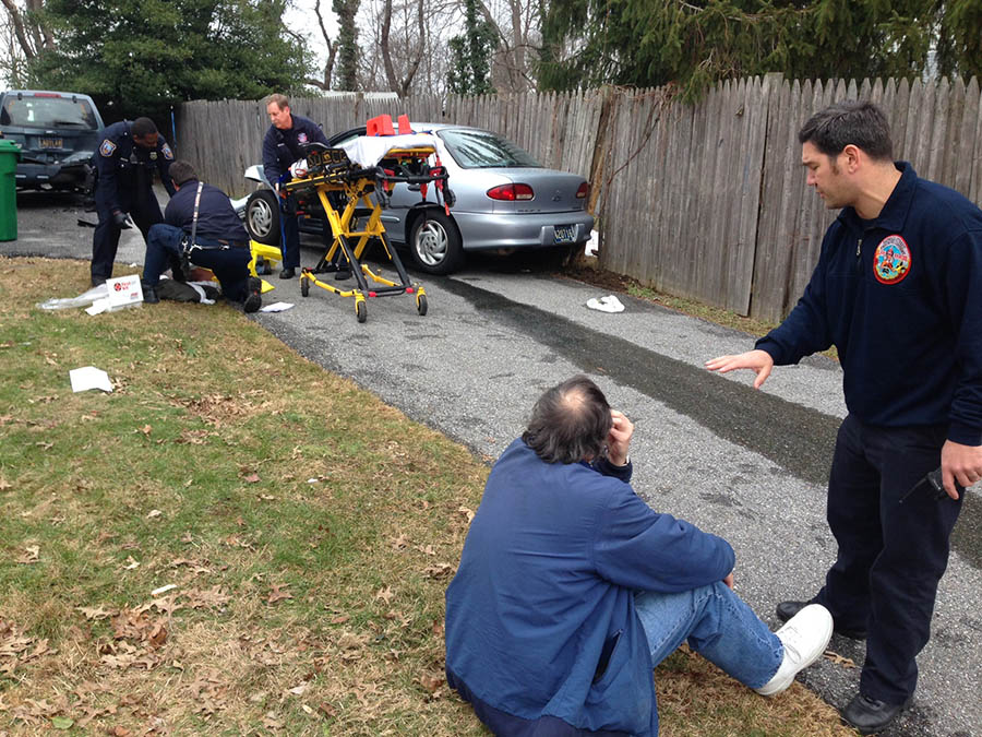 Accident scene in Elsmere (Photo: Delaware Free News)