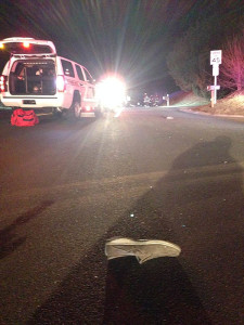 Scene of hit-and-run fatal pedestrian accident on Lancaster Pike in Hockessin. (Photo: Delaware Free News)