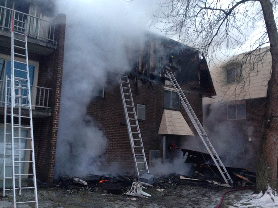 Fire on Winterhaven Drive in Autumn Park Apartments (Photo: Delaware Free News)