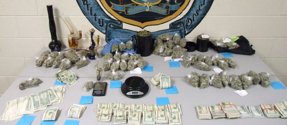 Evidence seized by Milford police after searches of vehicle and home. (Photo: Milford police)