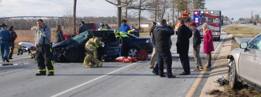Accident scene on U.S. 113 at Avenue of Honor (Photo: Millsboro Fire Company)