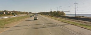 Northbound I-495 in Claymont