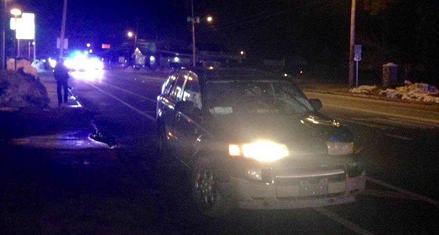 Pedestrian was fatally struck on Philadelphia Pike just south of Harvey Road in Claymont. (Photo: Delaware Free News)