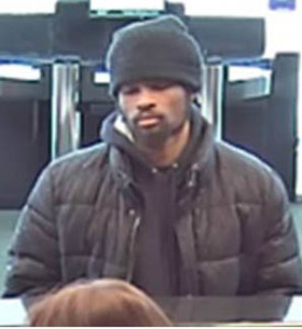Surveillance image released by Delaware State Police after TD Bank robbery.