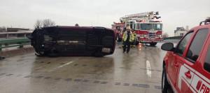 Accident scene on South Walnut Street Bridge in Wilmington (Photo: Delaware Free News)
