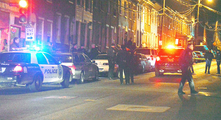 Shooting scene at Second and Van Buren streets in Wilmington. (Photo: Delaware Free News)