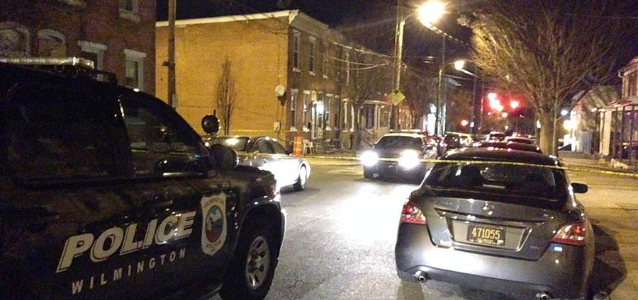 Wilmington police investigate shooting death in 1000 block of N. Pine St. (Photo: Delaware Free News)