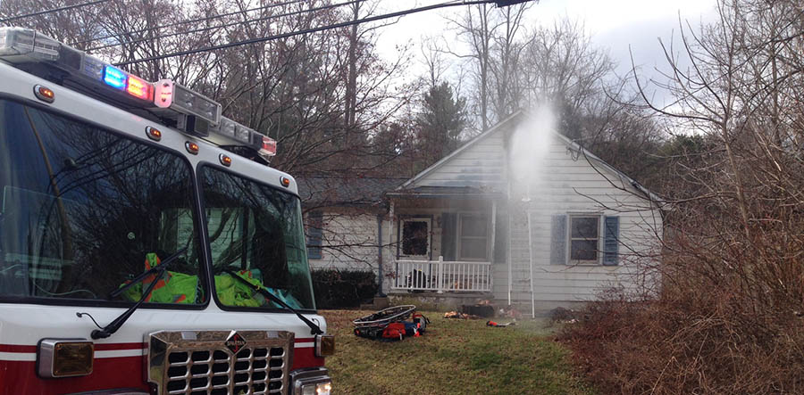 Fire scene in the 1100 block of Yorklyn Road (Photo: Delaware Free News)
