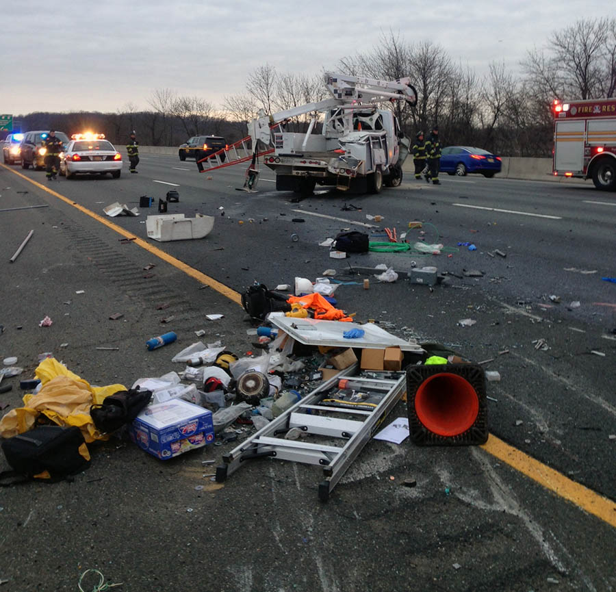 Crash scene on Interstate 95 in Churchmans Marsh (Photo: Delaware Free News)