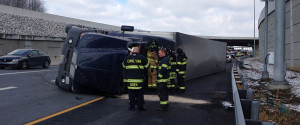 Accident scene on Route 1 just south of Interstate 95, near Christiana Mall. (Photo: Delaware Free News)
