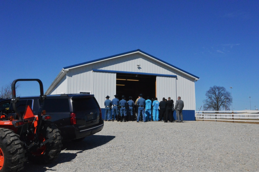 The Delaware State Police Mounted Patrol Unit showed off the new stables near Smyrna on Tuesday. (Photo: Delaware Free News)