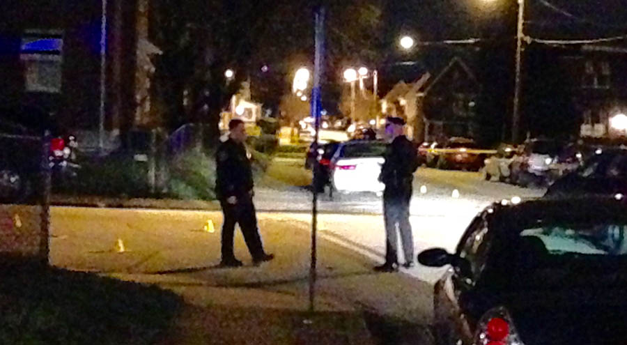 Shooting scene at 28th and Pine streets in Wilmington (Photo: Delaware Free News)