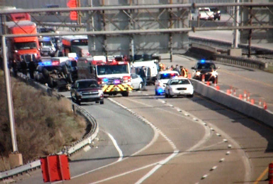 Accident scene on Interstate 295. (Photo: Delaware Free News)