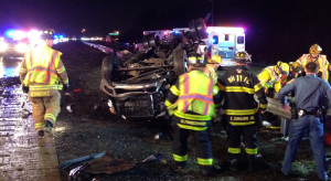 Accident scene on Interstate 495 near Edgemoor Road (Photo: Delaware Free News)