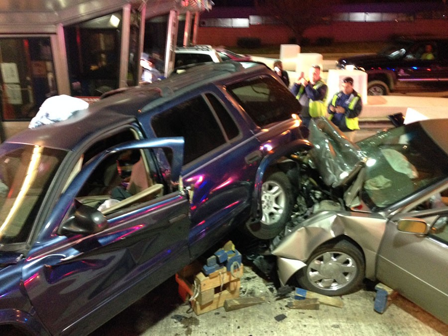 Accident scene at Newark toll booth on Interstate 95 (Photo: Delaware Free News)