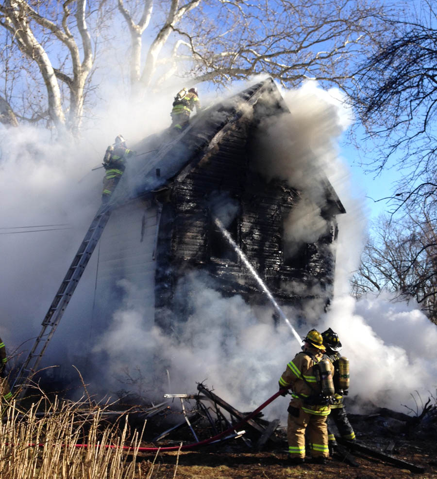 Wind helped spread flames throughout home in Buttonwood neighborhood. (Photo: Delaware Free News)