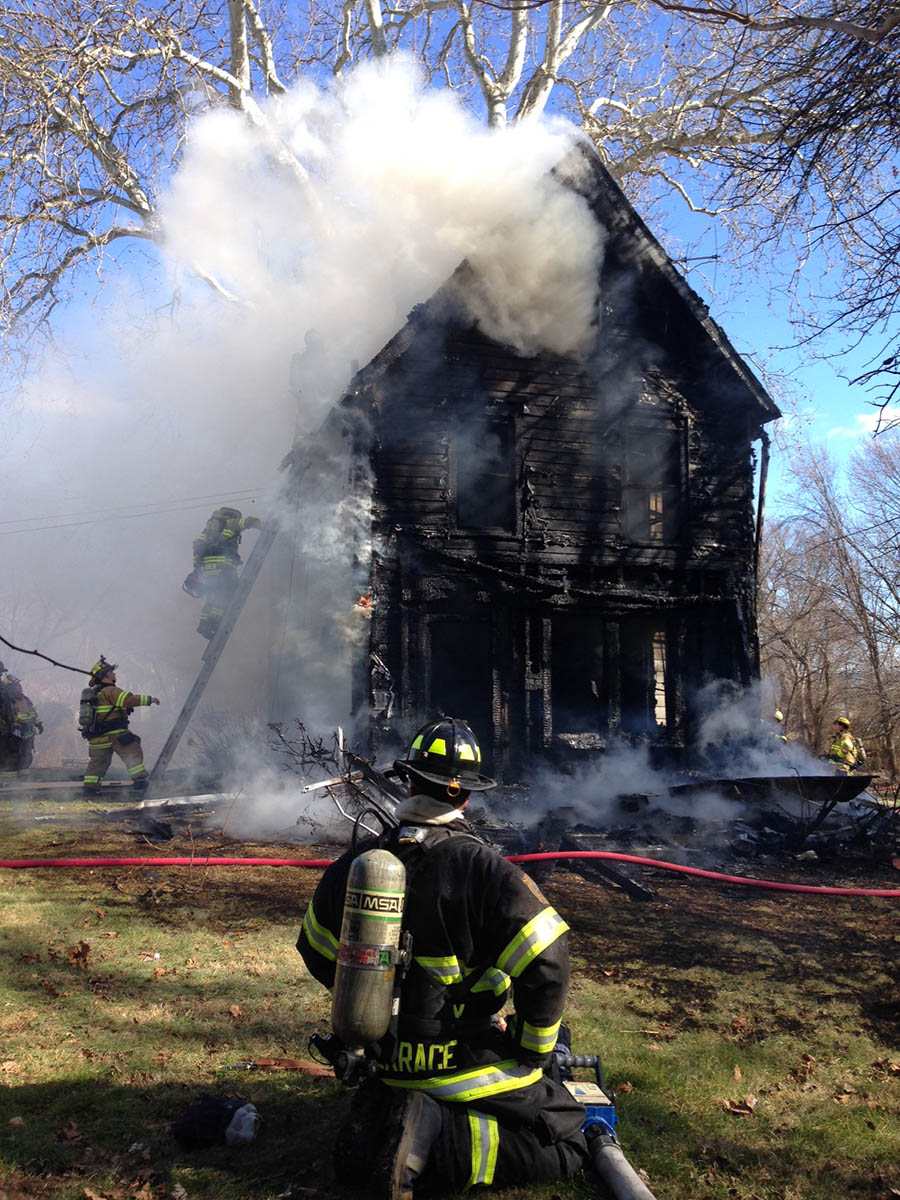Fire heavily damaged home at 20 Buttonwood Ave. in New Castle. (Photo: Delaware Free News)
