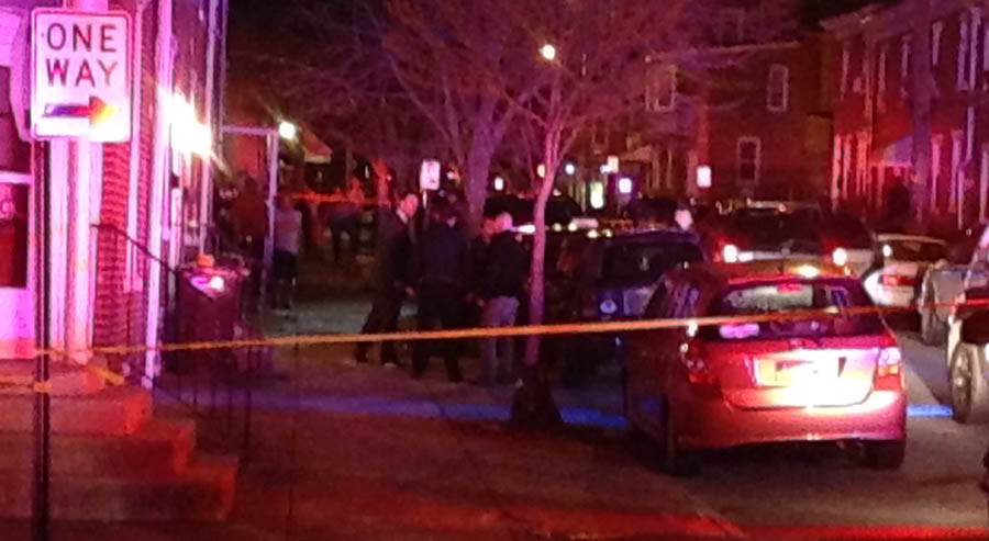 Police investigate shooting on Elm Street in Wilmington. (Photo: Delaware Free News)