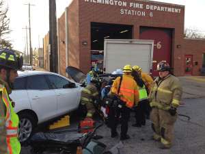Accident scene at Third and Union in Wilmington (Photo: Delaware Free News)