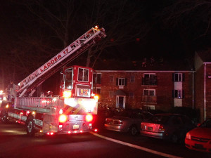 Fire scene at Foxwood Apartments in Pike Creek (Photo: Delaware Free News)