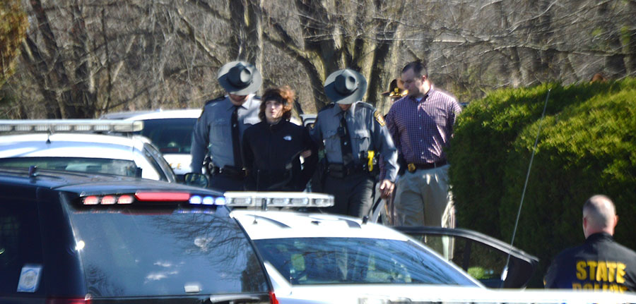 Shawn Hagerty was taken into custody on Blue Hen Court south of Landenberg, Pennsylvania. (Photo: Delaware Free News)