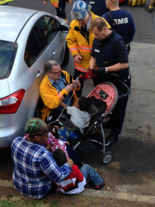 Residents are treated outside Hidden Valley Apartments building near Wilmington. (Photo: Delaware Free News)