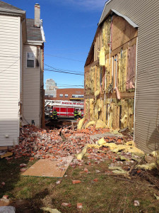 Home collapsed in the 1100 block of N. Heald St. in Wilmington. (Photo: Delaware Free News)