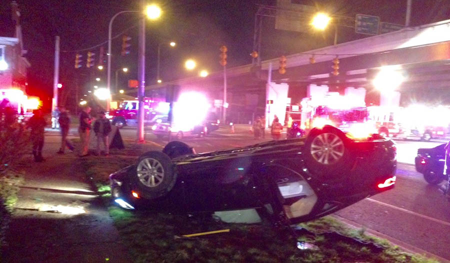 Accident scene in Newport (Photo: Delaware Free News)