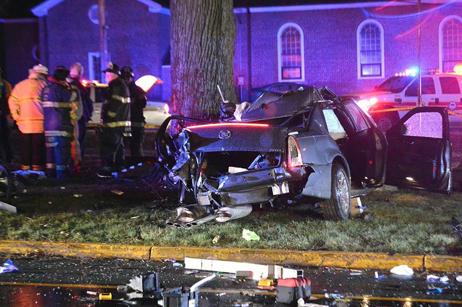Scene of fatal crash in Newport (Photo: Delaware Free News)