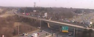 Route 1 crash backed up northbound traffic at U.S. 40. (Photo: DelDOT traffic cam)