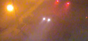 Fog was thick on High Street in Seaford at 6 a.m. (Photo: DelDOT traffic cam)