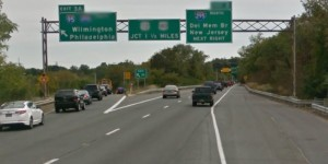 Southbound Route 141 at Exit 3A for northbound I-95