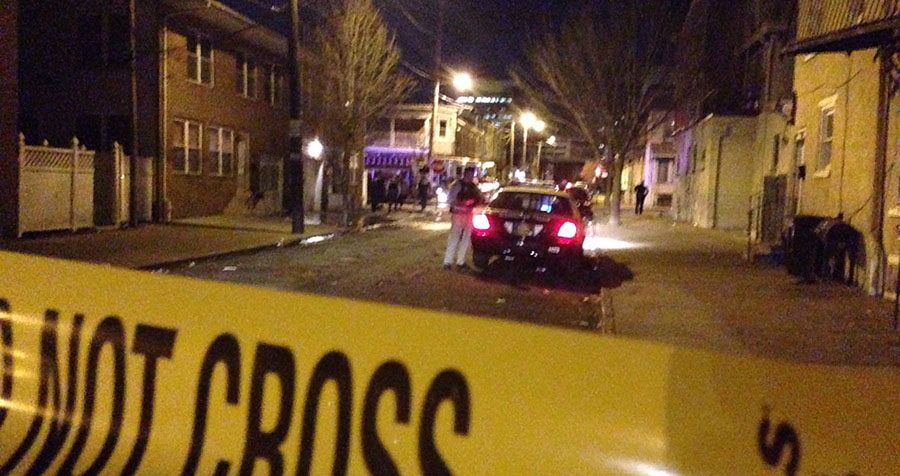 Wilmington police investigate Taylor Street shooting. (Photo: Delaware Free News)