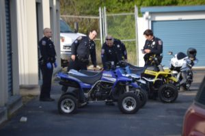 Wilmington police seized ATVs and dirt bikes at a storage facility on Lea Boulevard. (Photo: Delaware Free News)